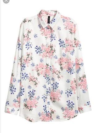 Рубашка с цветочный принт h&m2 фото
