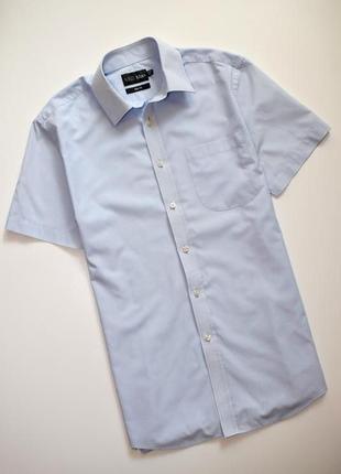 Мужская рубашка в клетку marks & spencer короткий рукав