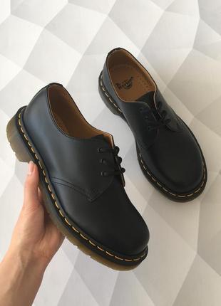 Оригинальные туфли от dr. martens 1461 black smooth