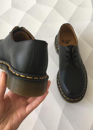 Оригинальные туфли от dr. martens 1461 black smooth3 фото
