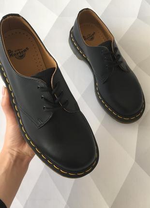 Оригинальные туфли от dr. martens 1461 black smooth5 фото