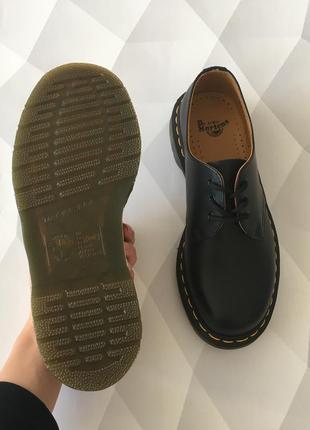 Оригинальные туфли от dr. martens 1461 black smooth6 фото