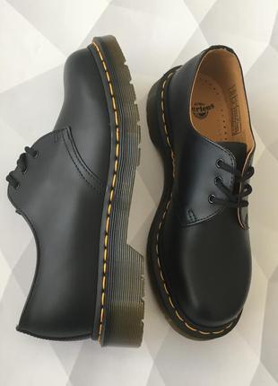 Оригинальные туфли от dr. martens 1461 black smooth4 фото