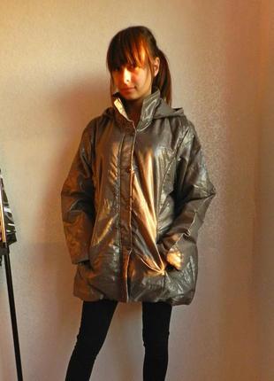 Бомбезная оверсайз куртка на осень. качество отменное!2 фото