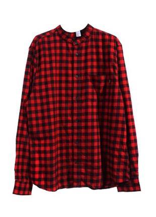 Оригинальная рубашка в клетку от бренда h&m разм. l