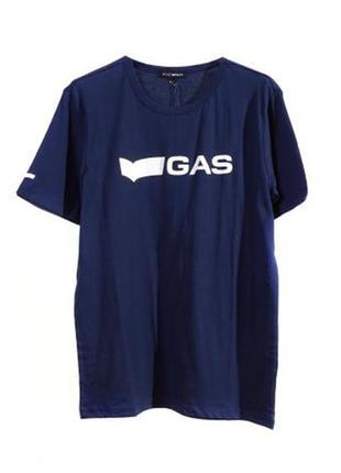 Оригинальная футболка с принтом от бренда gas разм. s, m