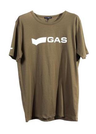 Оригинальная футболка с принтом от бренда gas разм. м