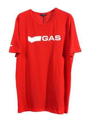 Оригинальная футболка с принтом от бренда gas разм. l