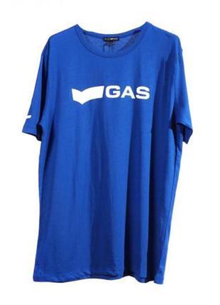 Оригинальная футболка с принтом от бренда gas разм. l, xl