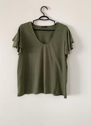 Новая блузка, блуза с рукавами волан, блузка с воланом