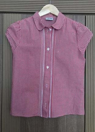Стильная школьная легкая рубашка - блузка next возраст 11 лет, рост 146 см
