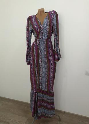 Шикарное платье-халат на запахе melle fashion