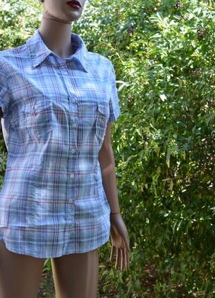 Рубашка клетчатая женская h&m хлопчатобумажная.