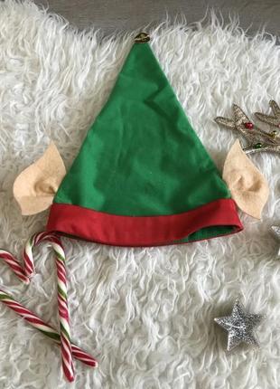 Новогодняя шапочка эльф
