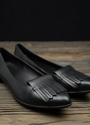 Класные туфли ecco shape pointy ballerina на низком каблуке 262973 р-39