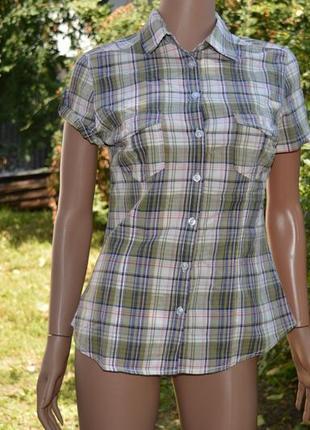 Клетчатая женская рубашка бренда h&m