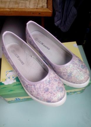 Нарядные туфли на девочку