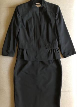 Женственный деловой костюм, calvin klein оригинал, р. 2 (s)