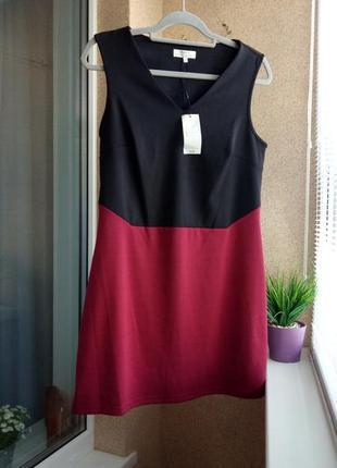 Стильное трикотажное платье / сарафан