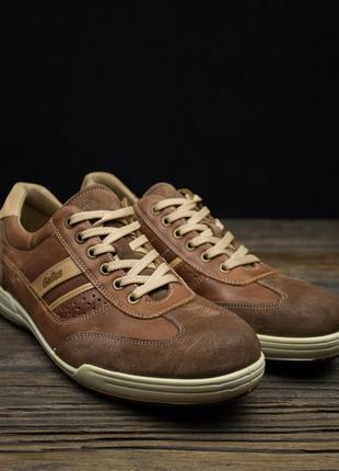 Мужские кожаные кроссовки gallus оригинал р-45