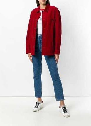 Вельветовая куртка оверсайз от люксового итальянского бренда