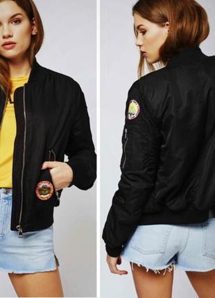 Крутая курточка бомбер top shop