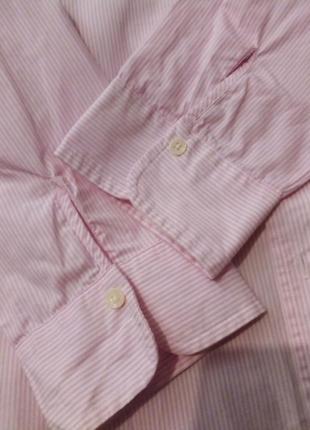Брендовая рубашка полоска lawrence crey5 фото