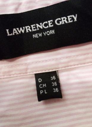 Брендовая рубашка полоска lawrence crey6 фото