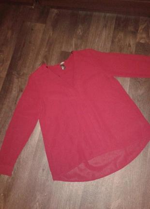 Легкая блузка цвета марсала