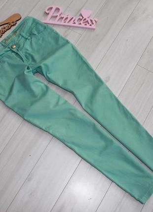 Skinny джинсы мятные разм м