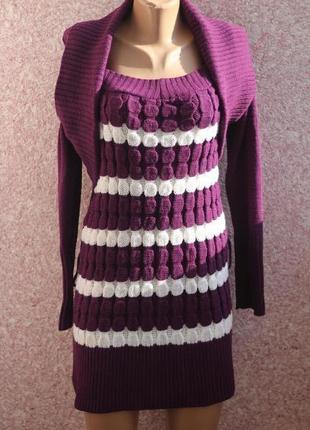 Вязаное платье glamour 42-44