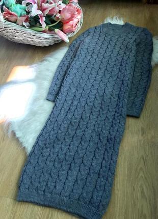 Потрясающее вязаное трикотажное платье