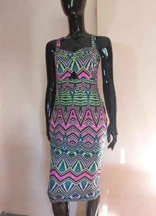 Яркое платье по фигуре river island uk 10 наш 44