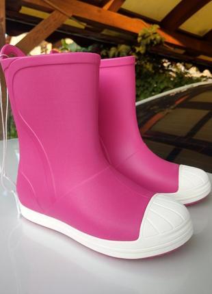 Сапоги крокс kids crocs bump it rain boot,  j2 33-34р