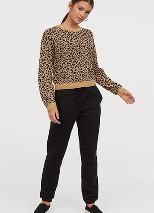 Оригинальные трикотажные брюки от бренда h&m разм. l
