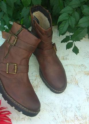 Кожаные зимние ботинки  fraiche р 36 германия