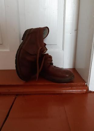 Мужские кожаные зимние ботинки woodstone 41-42 размер