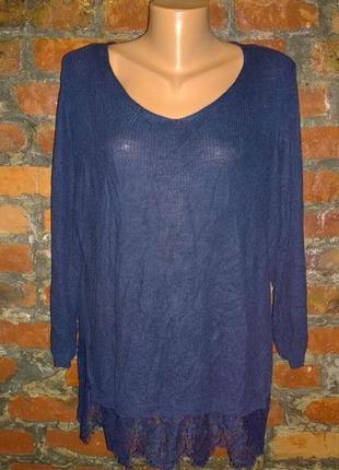 Джемпер пуловер кофточка с кружевом george