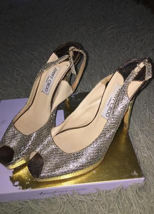 Золоті туфлі jimmy choo