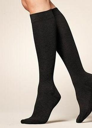 Высокие плотные носки-гольфы р. 35-38 tcm tchibo германия чёрные