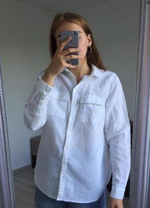Идеальная белая льняная рубашка new look