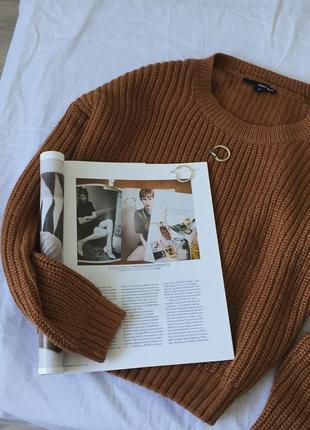Коричневый свитер tally weil