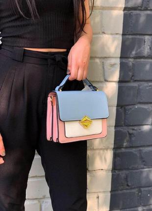 New ⭐️ лаконичная кросс-боди сумочка 3 цвета / каркасная сумка из эко-кожи с ручкой