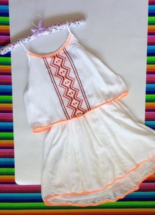 Платье сарафан yd с вышитым орнаментом хлопок размер 12-13 лет цена 99грн