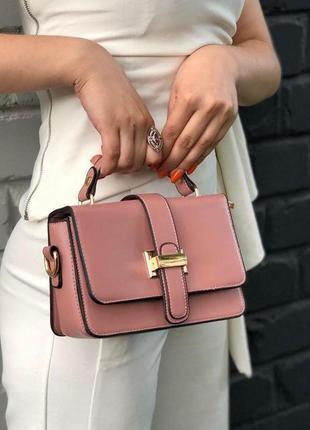 New ⭐️ лаконичная кросс-боди сумочка / каркасная сумка из эко-кожи с ручкой