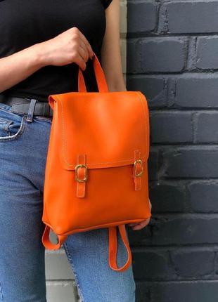 New ⭐️ актуальный городской рюкзачок из эко-кожи / лаконичный вместительный рюкзак