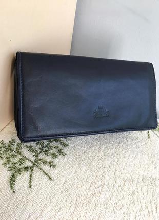 Кошелёк портмоне косметичка кожаный, много отделений.