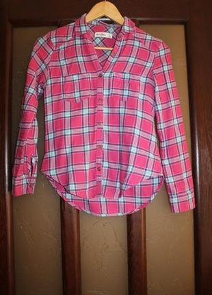 Рубашка в клетку сорочка abercrombie & fitch xs