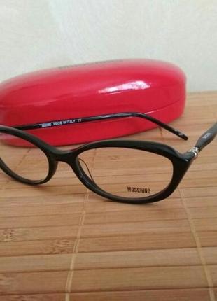 Фирменная череая оправа кошачий глаз, очки женские