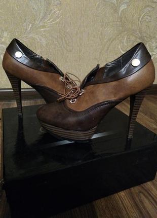 Ботинки ботильоны туфли натуральная кожа оригинал
